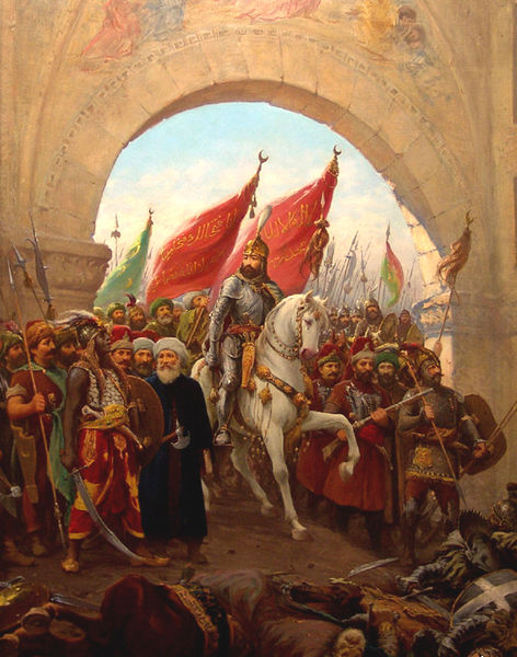 the Ottomans enter Constantinope in 1453