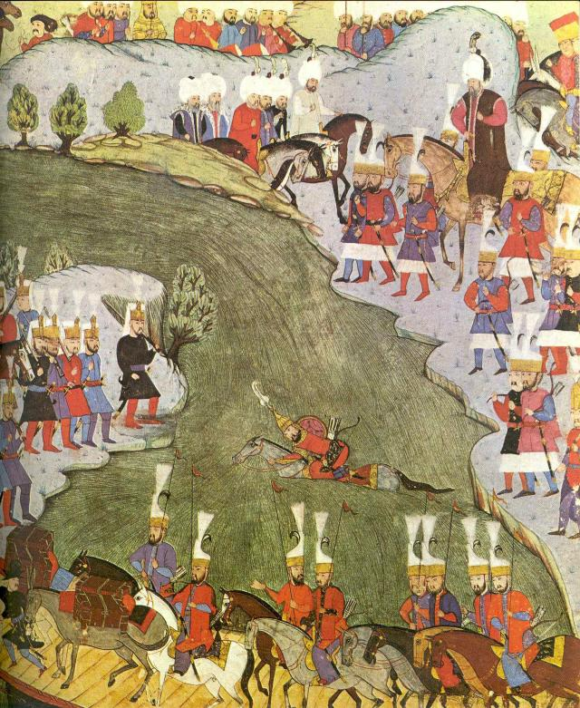 Janissaries cross the Drava River