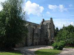 Ferniehirst Castle near Jedburgh in the Borders