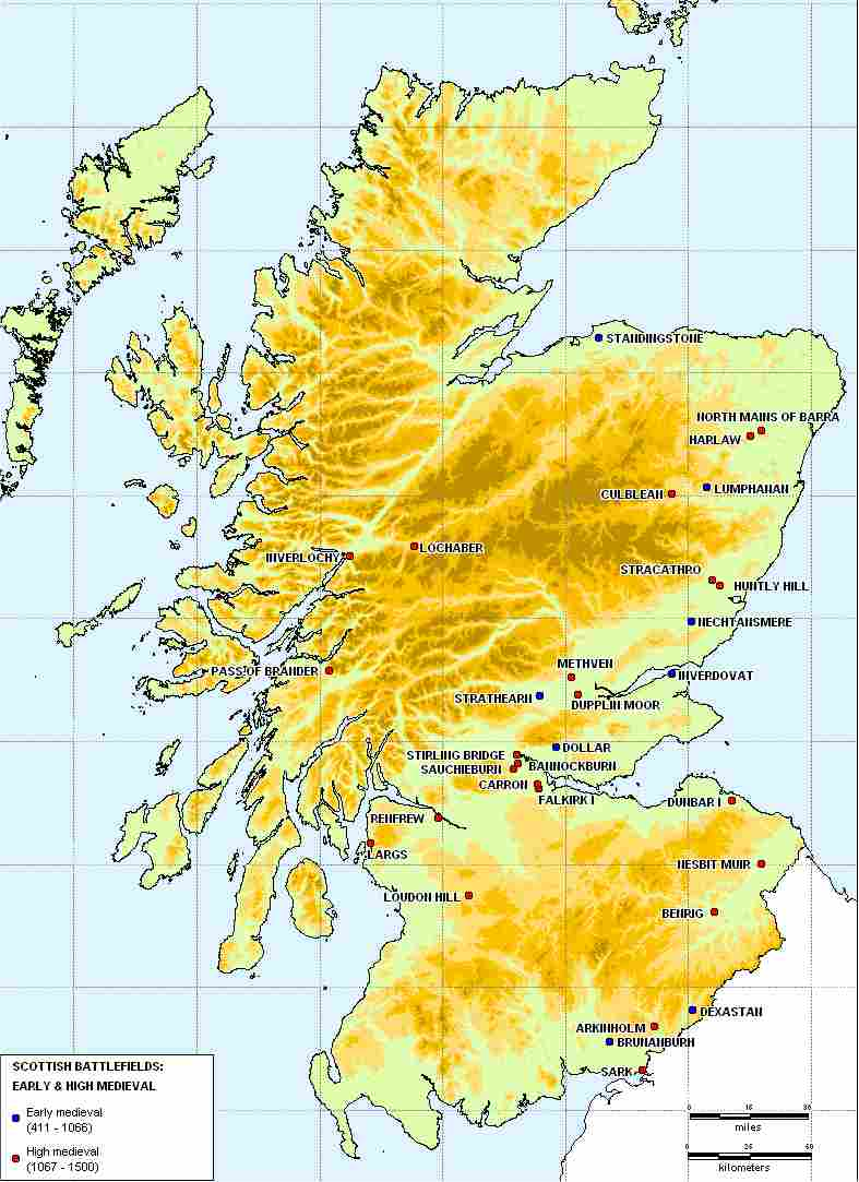 Double click and expand for Scottish battles 411 to 1500 AD