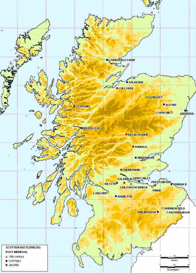 Double click and expand for Scottish battles after 1500AD
